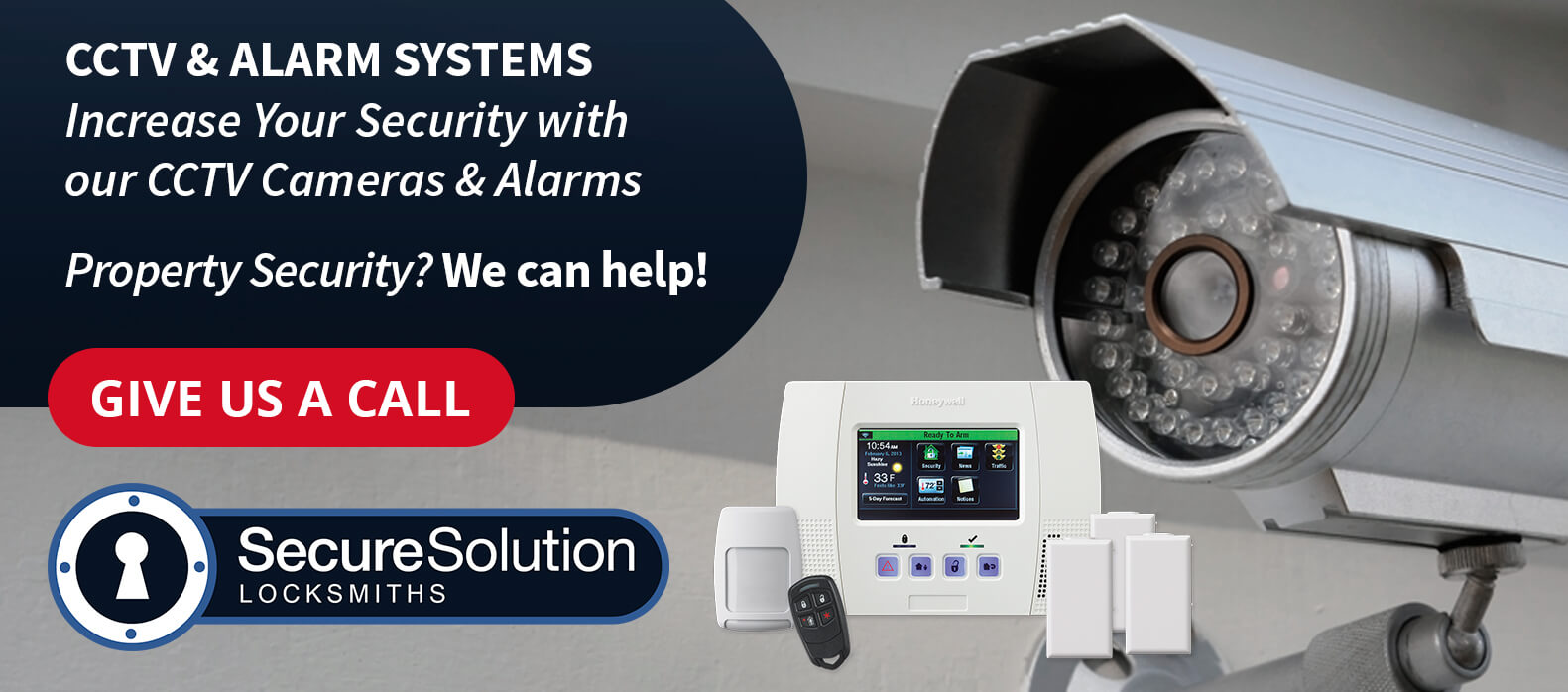 CCTV Cameras & Alarm Systems Fitted in Leeds by Secure Solution Locksmiths